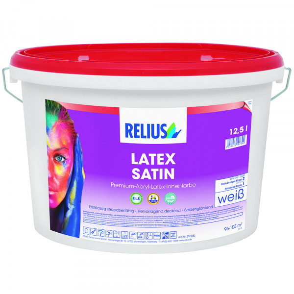 Relius Latex Satin (Latexfarbe) weisserfuchs.de